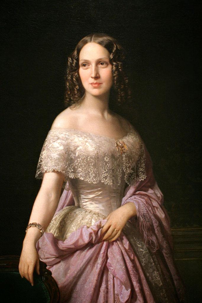 Retrato de Elizabeth Wethered Barringer, por Federico de Madrazo y Kuntz