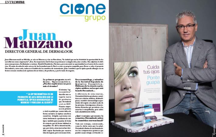 Juan Manzano, CEO de Dermalook, entrevistado por grupo CIONE